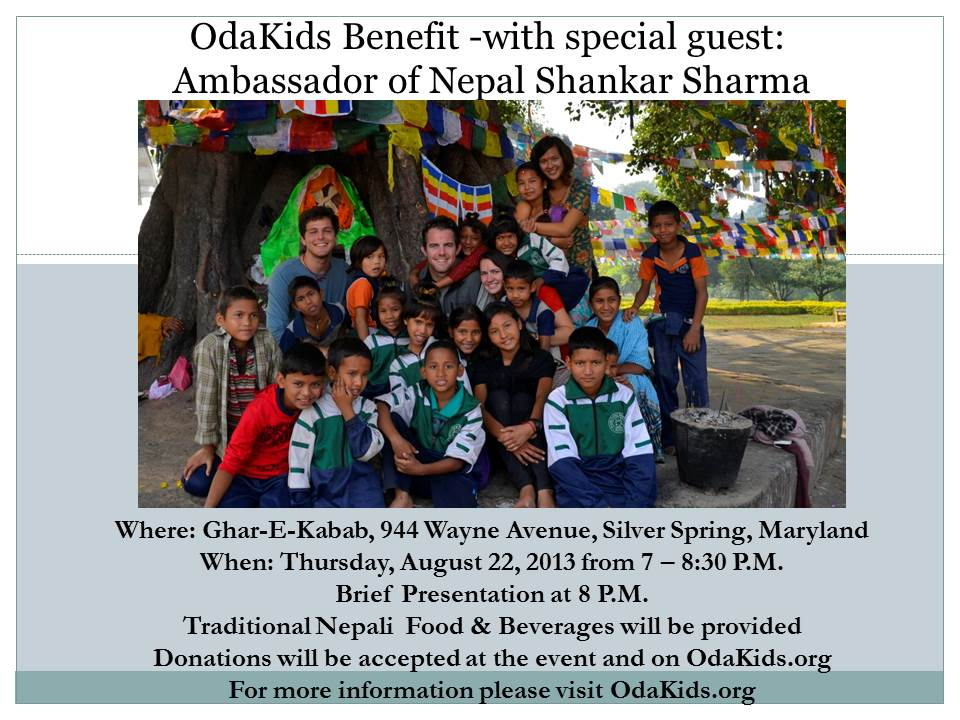 Please Join us for our Washington, DC OdaKids Benefit!